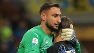 Gianluigi Donnarumma and Mauro Icardi