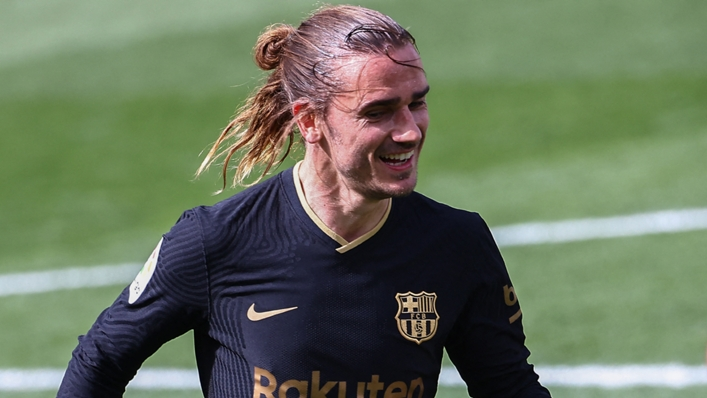 Barcelona forward Antoine Griezmann scored twice against Villarreal