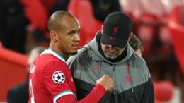 Liverpool defender Fabinho and manager Jurgen Klopp