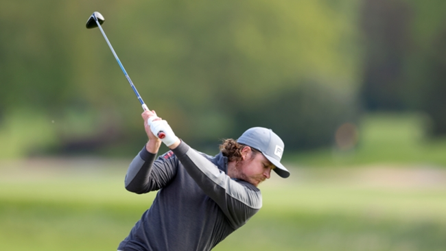 Eddie Pepperell leads at the British Masters