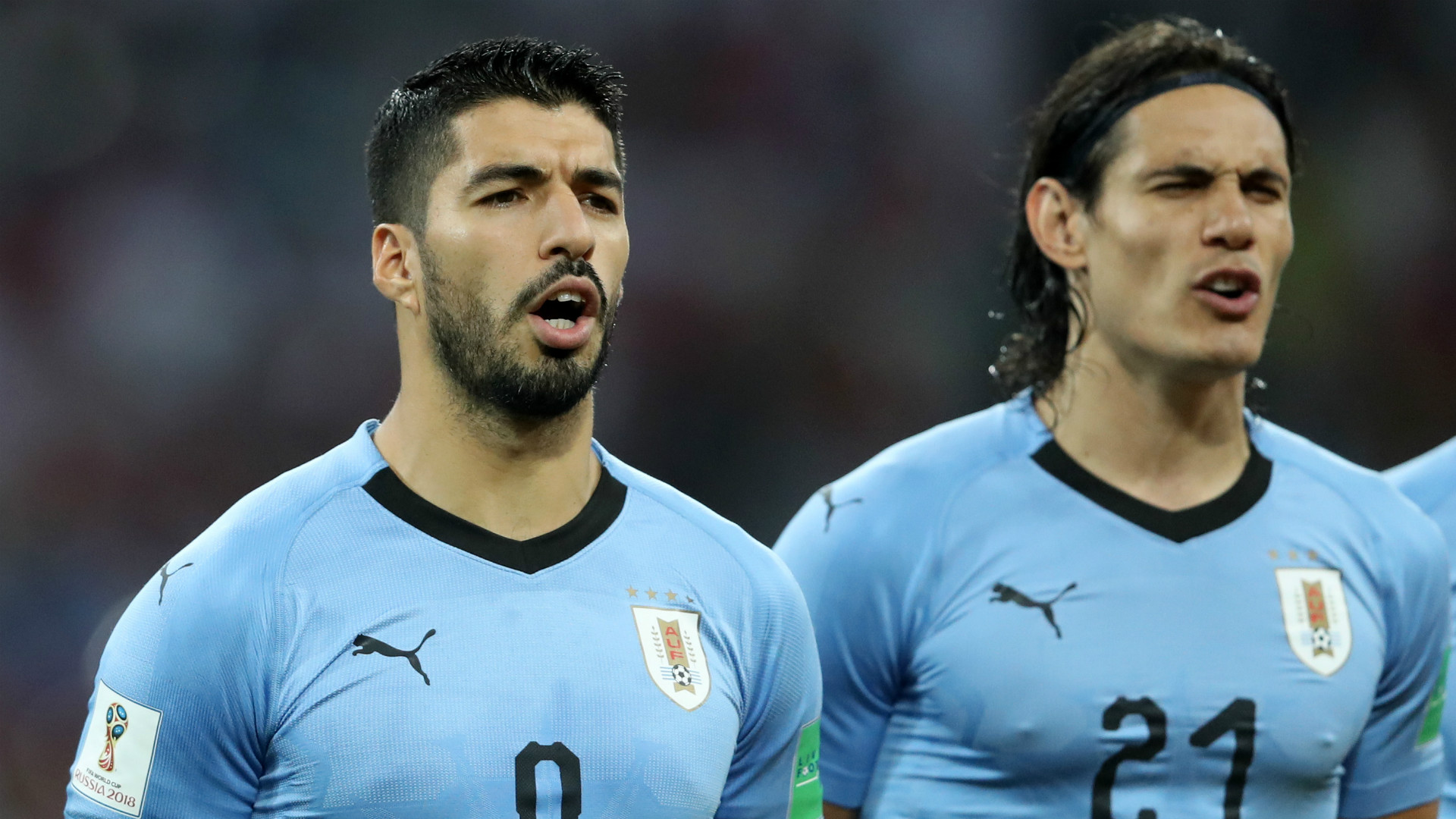 Cavani out, Stuani in for Uruguay against France