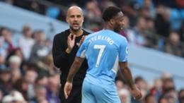 Pep Guardiola encourages forward Raheem Sterling