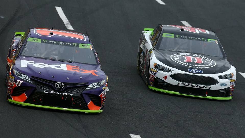 Kevin Harvick on Denny Hamlin's feedback: 'Typically you've got to keep your mouth shut'