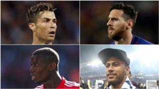 Ronaldo, Messi, Pogba, Neymar