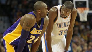 Kobe Bryant and Kevin Durant