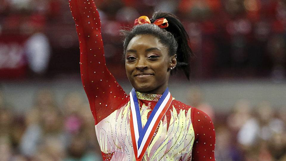 Simone Biles returns to gymnastics, wins first competition