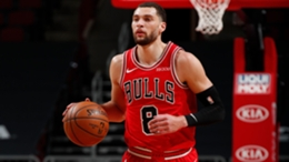 Zach LaVine in action for the Chicago Bulls
