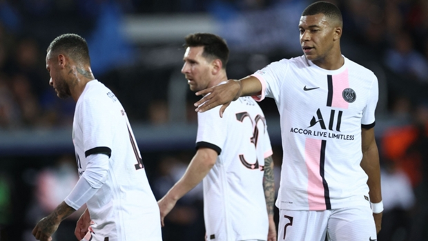 Lionel Messi, Neymar and Kylian Mbappe combined for the first time for Paris Saint-Germain as they failed to defeat Club Brugge on Wednesday