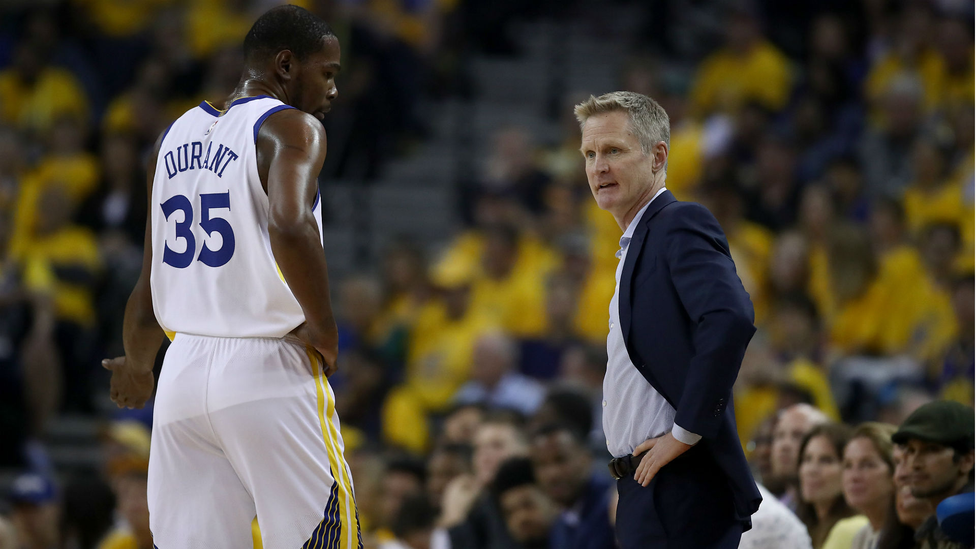 pretty nice 9b803 711ea NBA playoffs 2019  Warriors  Steve Kerr says Kevin Durant  absolutely needs  to be more aggressive
