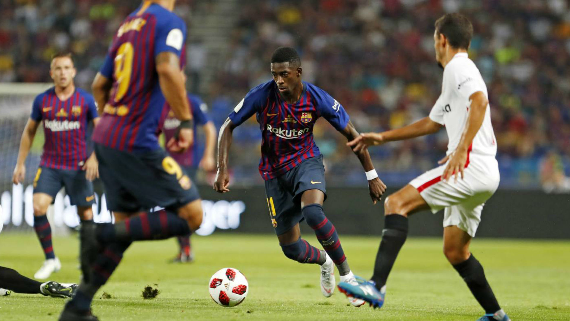 Barcelona beat Sevilla 2-1 to win Spanish Super Cup in Morocco