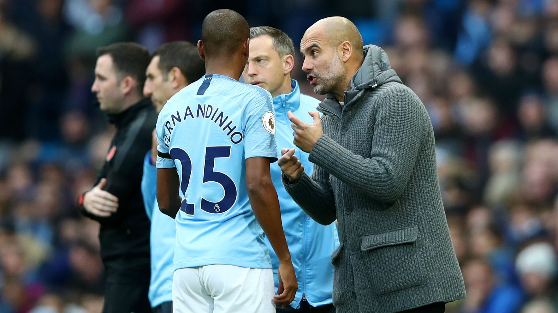Guardiola confronts Sterling over derby showboating