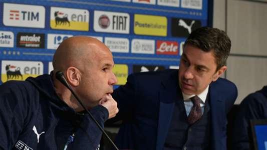 Luigi Di Biagio with Alessandro Costacurta