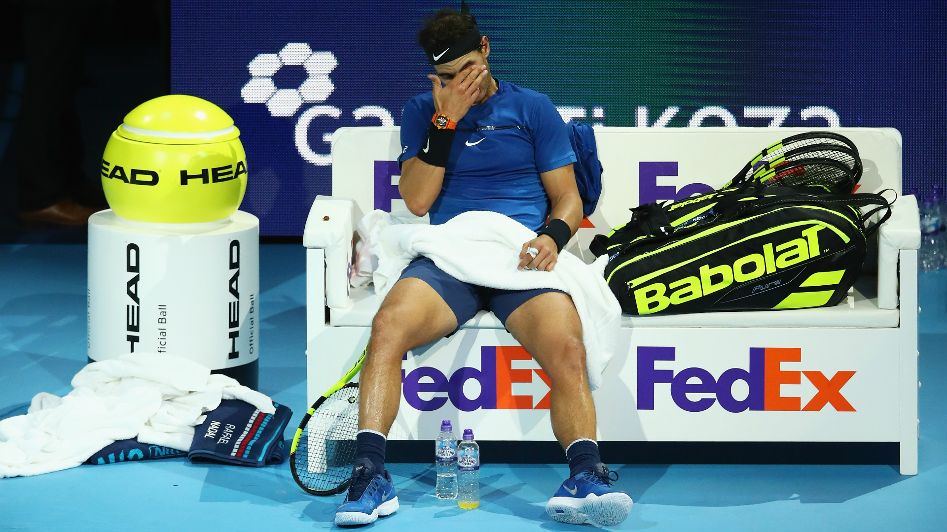 Rafael Nadal withdraws from ATP Finals with injured knee