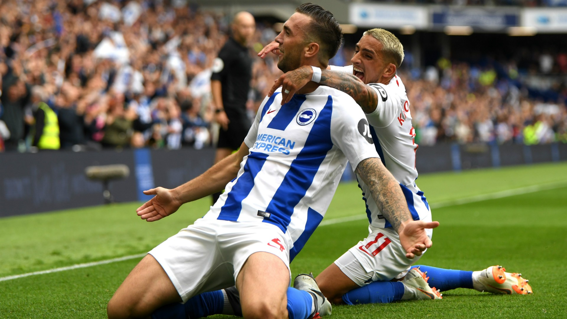 BPL (2018-2019) Report: Brighton and Hove Albion 3 Manchester United 2 - Murray lifts Seagulls to another win over Mourinho