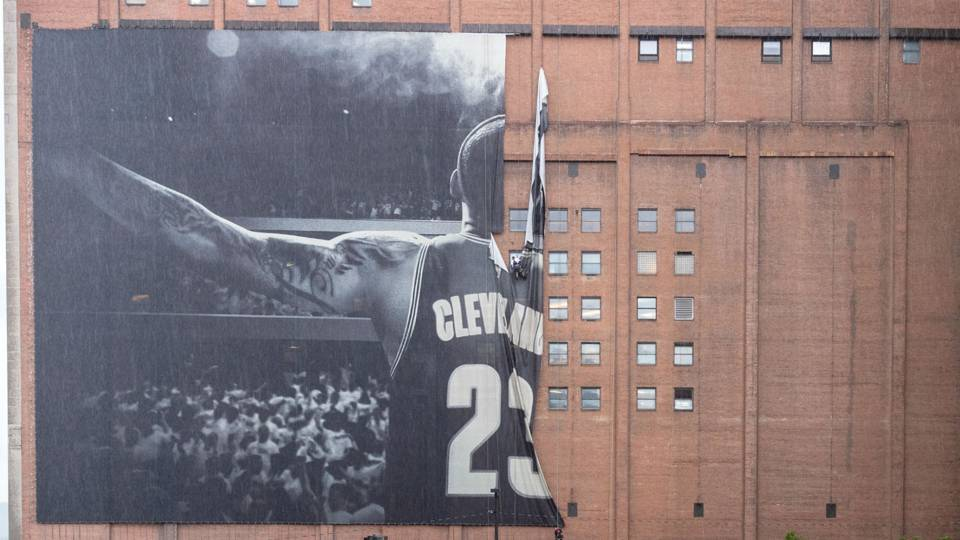 A replacement design for LeBron James' banner has been revealed