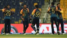 Sri Lanka celebrate their win over Ireland