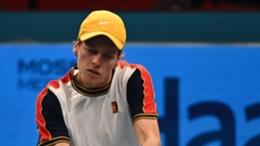 Jannik Sinner during his win over Reilly Opelka