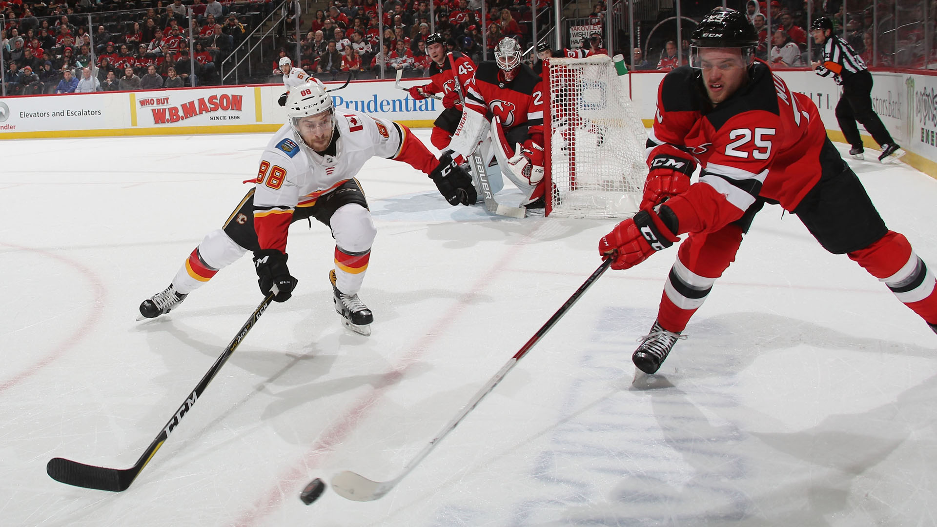 first rate 146b7 70e90 Devils' Mirco Mueller stretchered off ice | Sporting News