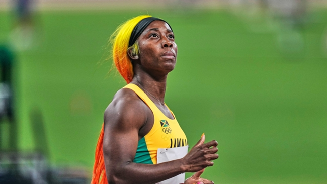 Shelly-Ann Fraser-Pryce finished second in the women's 100 metres