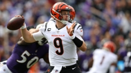 Joe Burrow in action for the Bengals against the Ravens