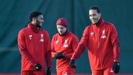 Liverpool duo Virgil van Dijk (right) and Joe Gomez (left)