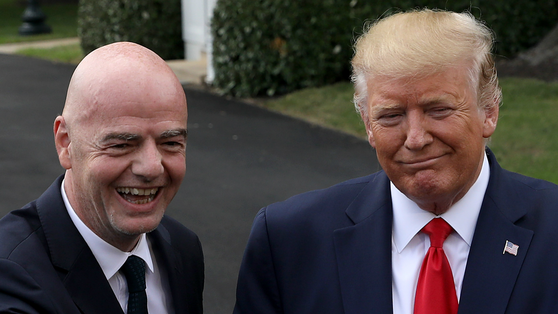 President Trump in talks with FIFA chief on how to make women's football 'more equitable'