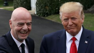Gianni Infantino and Donald Trump - cropped