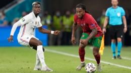 Midfielder Renato Sanches in action for Portugal