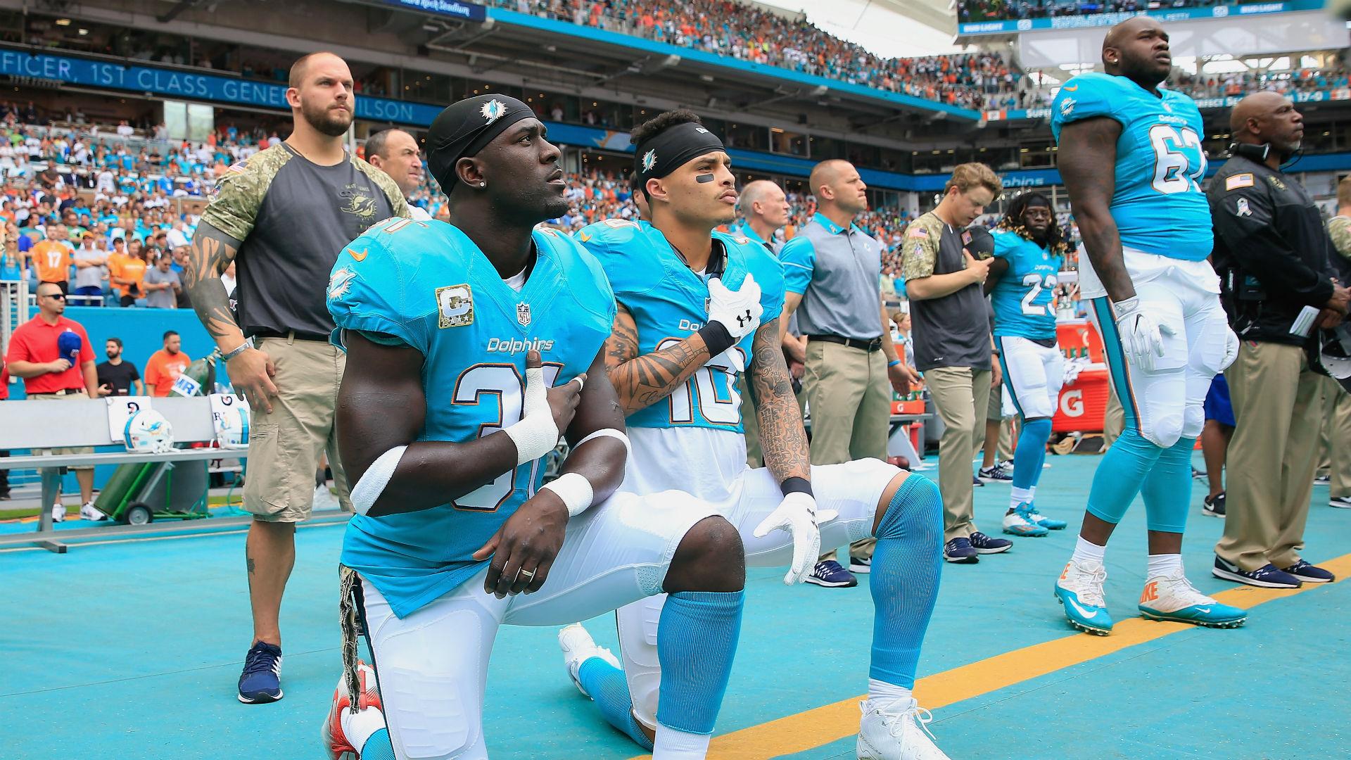 Dolphins' Kenny Stills calls out NFL for blackballing Colin Kaepernick, Eric Reid
