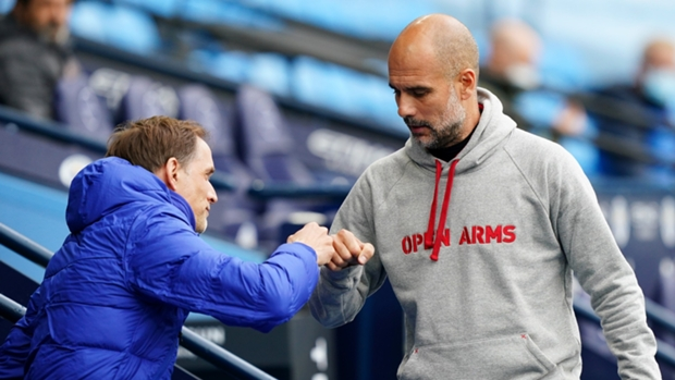 Thomas Tuchel (left) and Pep Guardiola have two of the world's best squads to choose from