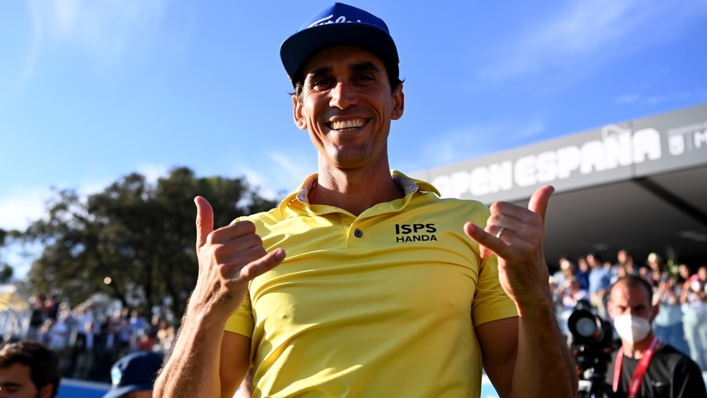 Rafa Cabrera Bello claimed his fourth European Tour title after a dramatic play-off in Madrid