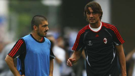 Gennaro Gattuso and Paolo Maldini - cropped