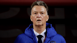 Netherlands coach Louis van Gaal of Holland during the World Cup Qualifier match between Latvia v Holland at the Daugava Stadium