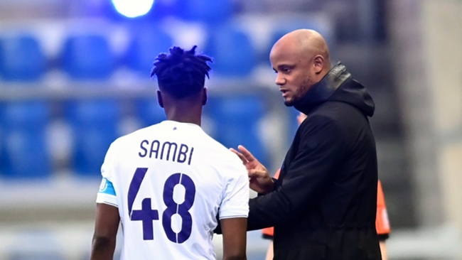 Albert Sambi Lokonga was coached by Vincent Kompany at Anderlecht