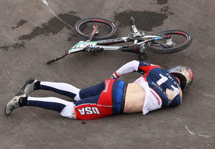 Connor Fields suffered a bad crash at the Olympics