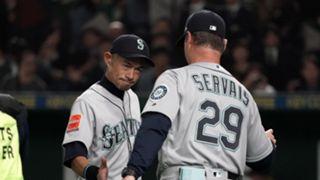 Ichiro Suzuki (left) and Scott Servais