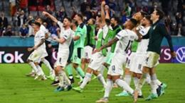 Italy following their Euro 2020 win over Belgium