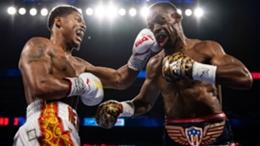 Shakur Stevenson thumps Jamel Herring during their world title bout