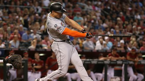 Watch Giancarlo Stanton S 5 Longest Home Runs Of 2017 Sporting News