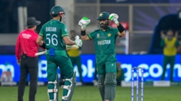 Babar Azam and Mohammed Rizwan enjoyed an unbeaten century opening stand as Pakistan cruised past India