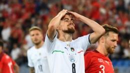 Italy midfielder Jorginho missed a penalty against Switzerland