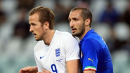 Harry Kane and Giorgio Chiellini first met on the England striker's second international appearance