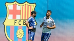 Sergio Aguero trained at Barcelona with Argentina before the 2018 World Cup
