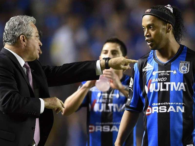 Ronaldinho causes stir with disallowed goal