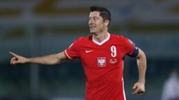Robert Lewandowski was on target again for Poland in their win over San Marino