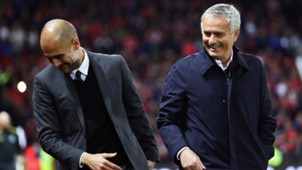 pep guardiola jose mourinho - cropped
