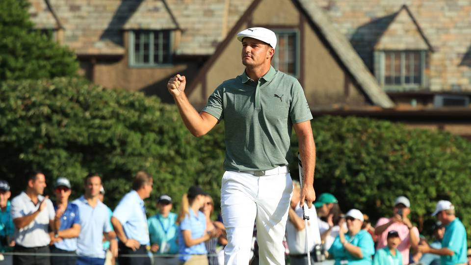 The Northern Trust: Bryson DeChambeau surges to top of leaderboard with 8-under 63