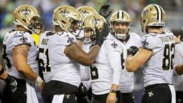 The New Orleans Saints celebrate in week 7