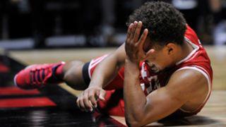 Utah's Brandon Taylor after BYU's hard foul
