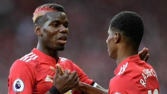 Paul Pogba and Marcus Rashford